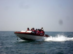 Speed boat in Tarkarli